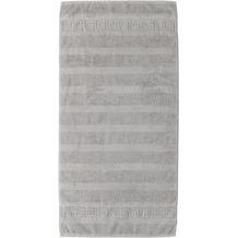 cawö Noblesse Uni Handtuch silber 50x100 cm