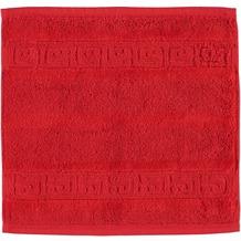 cawö Noblesse Uni Seiflappen rot 30x30 cm