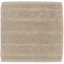 cawö Noblesse Uni Seiflappen sand 30x30 cm