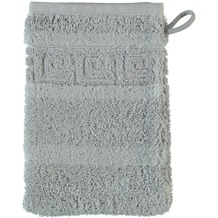 cawö Noblesse Uni Waschhandschuh platin 16x22 cm