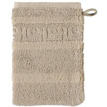 cawö Noblesse Uni Waschhandschuh sand 16x22 cm