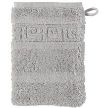 cawö Noblesse Uni Waschhandschuh silber 16x22 cm