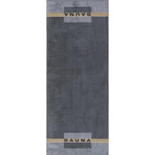 cawö Sauna Saunatuch anthrazit 80x200 cm