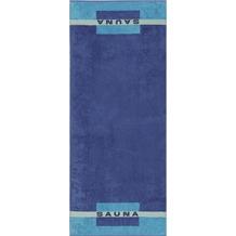 cawö Sauna Saunatuch blau 80x200 cm