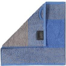 cawö Seiftuch blau 30 x 30 cm halbseitig gestreift