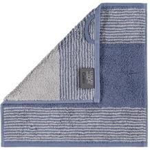 cawö Seiftuch nachtblau 30 x 30 cm, Querstreifen