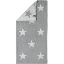 cawö Stars Big Handtuch silber 50x100 cm