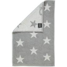 cawö Stars Small Gästetuch silber 30x50 cm
