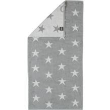 cawö Stars Small Handtuch silber 50x100 cm