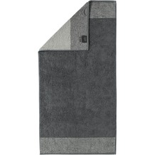cawö Two-Tone Duschtuch schiefer 80x150 cm