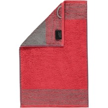 cawö Two-Tone Gästetuch rot 30x50 cm