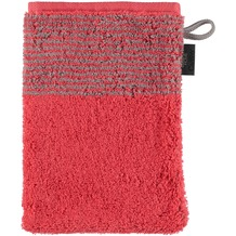 cawö Two-Tone Waschhandschuh rot 16x22 cm