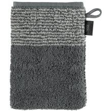 cawö Two-Tone Waschhandschuh schiefer 16x22 cm