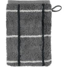 cawö Waschhandschuh anthrazit 16 x 22 cm, Netzmuster