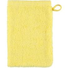 cawö Waschhandschuh plain lemon 16 x 22 cm