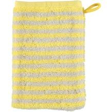 cawö Waschhandschuh lemon 16 x 22 cm gestreift