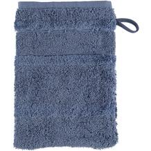 cawö Waschhandschuh nachtblau 16 x 22 cm, großer Akzent