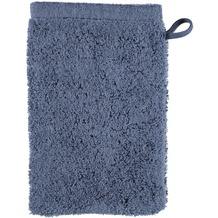 cawö Waschhandschuh nachtblau 16 x 22 cm, schlicht