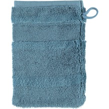 cawö Waschhandschuh petrol 16 x 22 cm, einzelner Querstreifen
