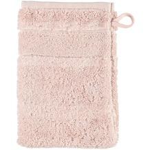 cawö Waschhandschuh puder 16 x 22 cm, einzelner Querstreifen