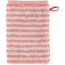 cawö Waschhandschuh rouge 16 x 22 cm gestreift
