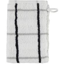 cawö Waschhandschuh weiß 16 x 22 cm Streifenmuster