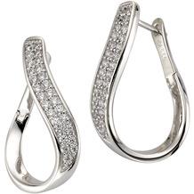 Celesta Silber Creolen 925/- Sterling Silber Zirkonia weiß 5863