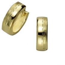 Celesta Gold Creolen 333/- Gelbgold matt/diamantiert  2069