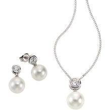 Celesta Silber 3tlg Set 925/- Sterling Silber Perlen weiß 4297