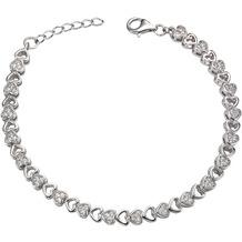 Celesta Silber Armschmuck 925/- Sterling Silber Zirkonia weiß 9429