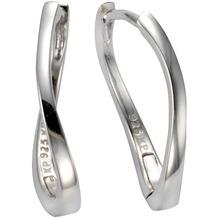 Celesta Silber Klappcreolen 925/- Sterling Silber 925/- Sterling Silber glanz Silbergrau 9367