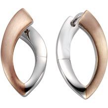 Celesta Silber Klappcreolen 925/- Sterling Silber bicolor mehrfarbig 9415