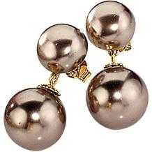 Celesta Silber Ohrstecker 925/- Sterling Silber vergoldet Perlen gelb 22569