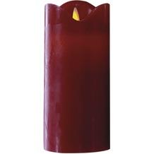 Cepewa LED Kerze mit beweglicher Flamme rot, H 14,5 cm