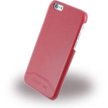 Cerruti 1881 Smooth Split - Kunstleder Hardcase für Apple iPhone 6/6s - Rot