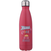 champ Isolierflasche Positive Vibes 500ml rot