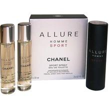 Chanel Allure Homme Sport Giftset 2x Edt Spray Refill 20Ml/ 1 Edt Spray 20ML - Twist and Spray 60 ml