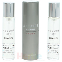 Chanel Allure Homme Sport Eau Extreme Giftset 3x Edp Spray Refill 20Ml - Twist and Spray 60 ml