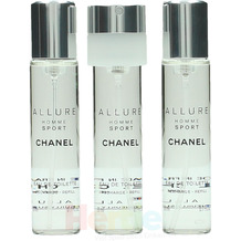 Chanel Allure Homme Sport Giftset 3x Edt Spray Refill 20Ml - Twist and Spray 60 ml