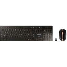 Cherry Tastatur-Maus-Set DW 9000 SLIM (JD-9000DE-2), schwarz