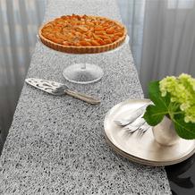 chilewich Tischläufer Metallic Lace, silber