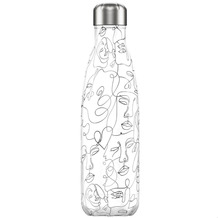 Chillys Isolierflasche Line Drawing Faces Gesichter 500ml