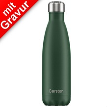 Chillys Isolierflasche MIT GRAVUR (z.B. Namen) Matte Green grün 500ml