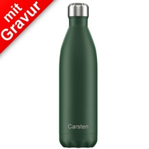 Chillys Isolierflasche MIT GRAVUR (z.B. Namen) Matte Green grün 750ml