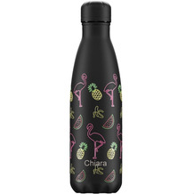 Chillys Isolierflasche MIT GRAVUR (z.B. Namen) Pool Party Flamingo Night 500ml