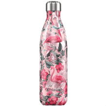 Chillys Isolierflasche MIT GRAVUR (z.B. Namen) Tropical Flamingo 750ml