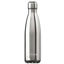 Chillys Isolierflasche MIT GRAVUR (z.B. Namen) Chrome Silver 500ml