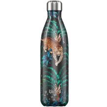 Chillys Isolierflasche Tropical Leopard MIT GRAVUR (z.B. Namen) 750ml