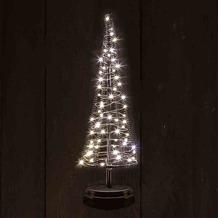 CHRISTMAS UNITED Santa´s Tree M schwarz 32 cm 60 warmweiße LED´s