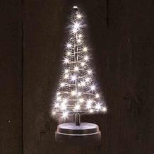CHRISTMAS UNITED Santa´s Tree S schwarz 25 cm 40 warmweiße LED´s